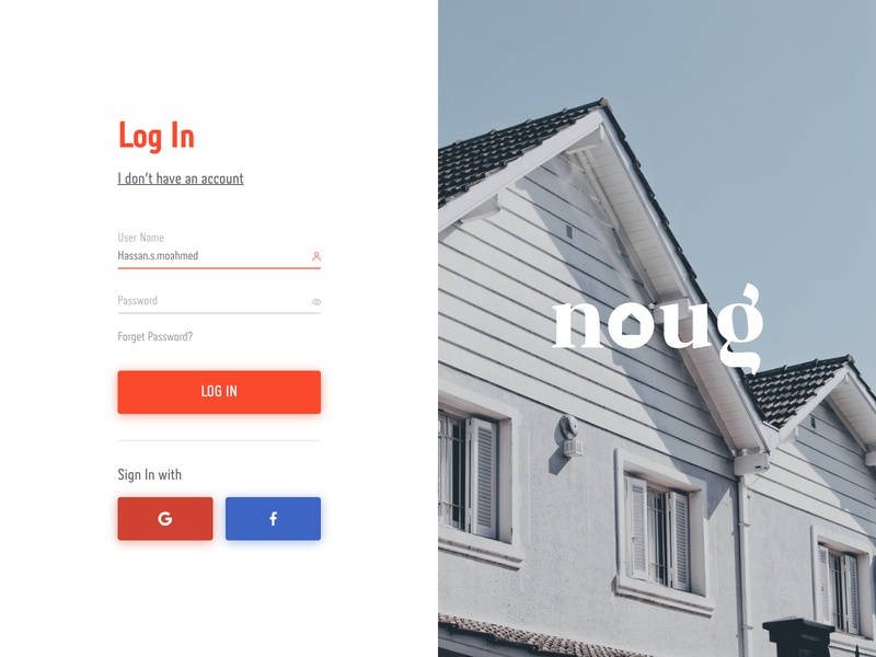 Noug | Sign In up sign in ink sign website illustration ux process app logo design ux ui minimal flat