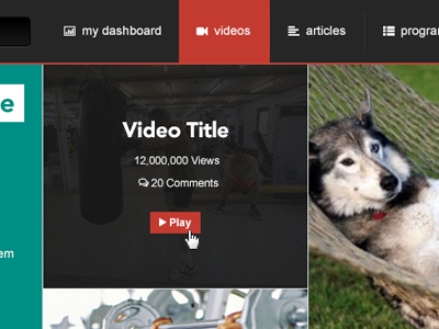 Featured video tile