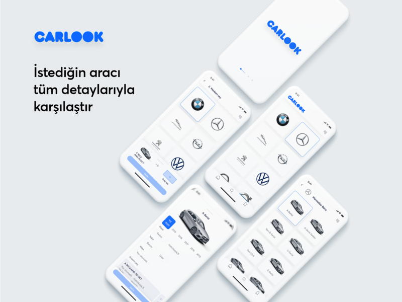 CARLOOK | Araç karşılaştırma uygulaması | UI/UX ux mobile app animated animation mobile app design ios design interface branding app