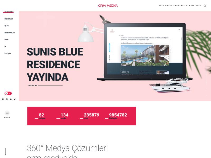 Crmmedya interface web site design