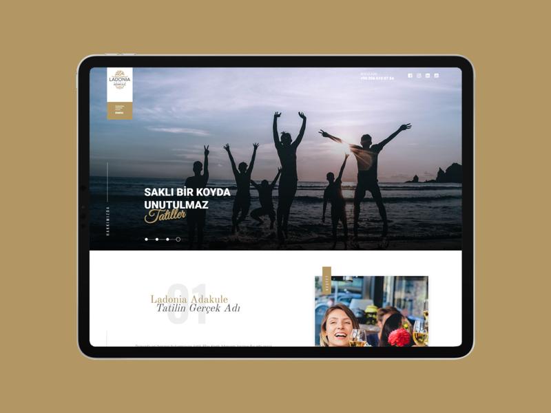 Ladonia hotels Adakule design web ui site hotel interface