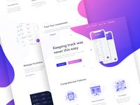 Cryptoportfolio App Homepage