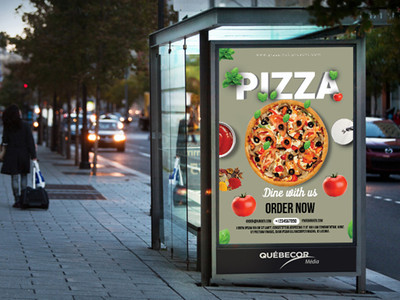 Pizza Flyer healthy vegetables flyers leafes sauce cheese tomato pizza pizza poster pizza flyer