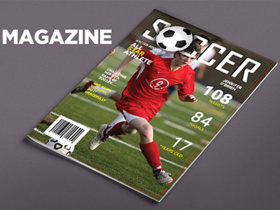 Sports Magazine Cover ground shoes health football healthy magazine cover soccer sports sports magazine cover