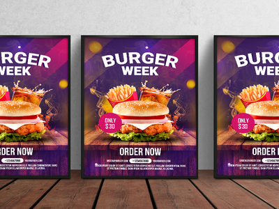 Burger Flyer tomato sauce cheese flyers fire food drinks french fries burger flyer