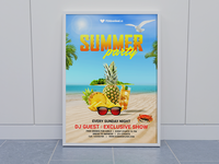 Summer Party Flyer Mockup