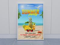 Summer Party Flyer Mockup
