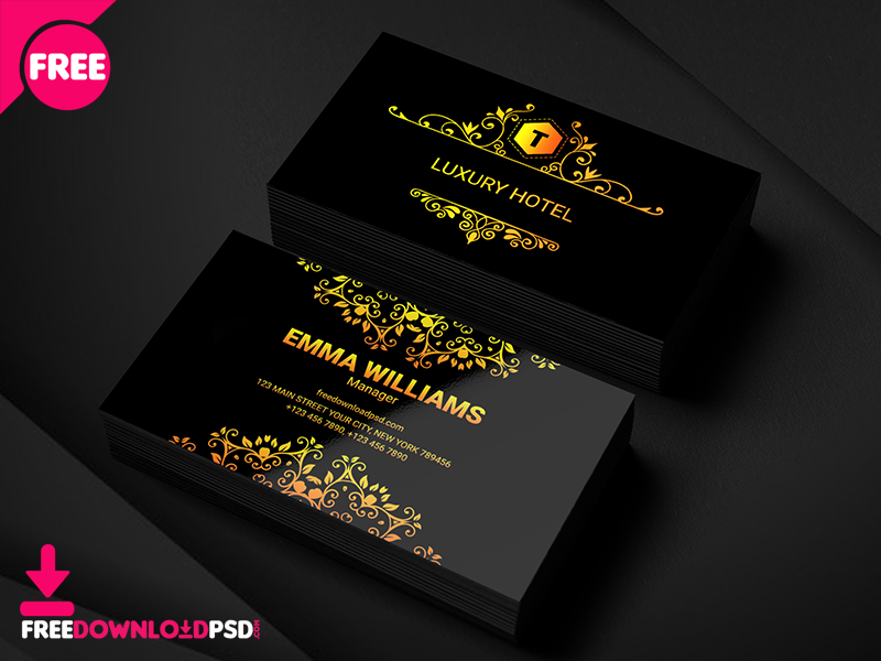 Luxury hotel business card by mohammed tariq dribbble luxury hotel business card dribbble colourmoves