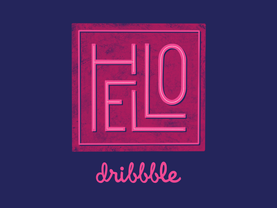 Hello! typography type handlettering lettering