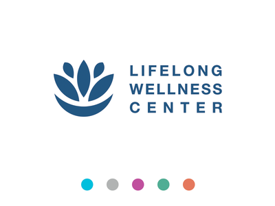 Lifelong Wellness healthcare chiropractor wellness branding icon logo