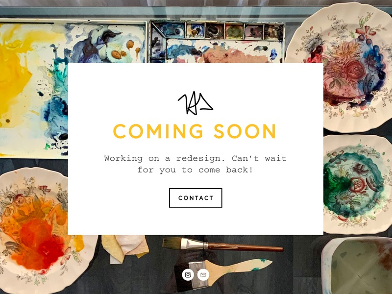 Website Refresh artist art webdesign website refresh