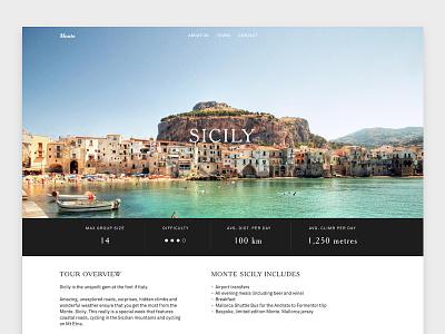 Monte Cycling - Tours Page web design responsive bike tours cycling ui ux