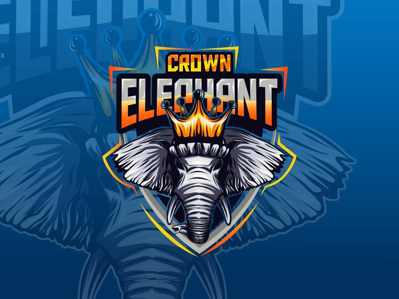elephant monster mascot esport gaming logo