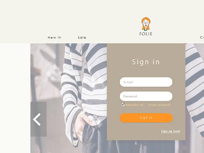 Daily Ui #001 Sign in dailyuichallenge dailyui webdesign uidesign
