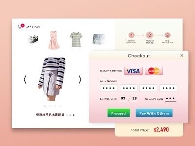 Daily Ui #002 Credit Card Checkout dailyuichallenge dailyui webdesign uidesign
