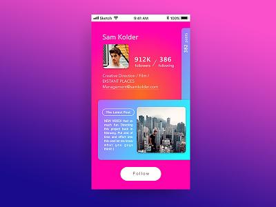 Daily Ui #006 - User Profile dailyuichallenge dailyui webdesign uidesign