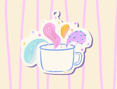 Keychain Design ipad app ipadprocreate ipadproart art digital colorful coffee design procreate ipadpro ipad idea color cup illustration