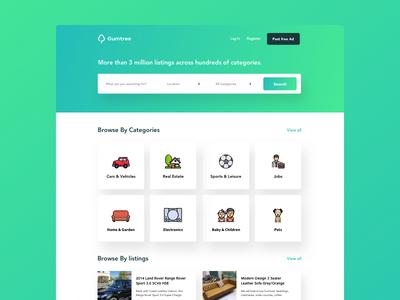 Daily UI challenge #003 — Landing Page gumtree classifieds landingpage daily-ui