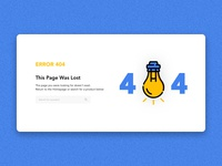Daily UI challenge #008 — 404 Page