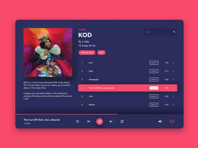 Daily UI challenge #009 — Music Player player music dailyui 009