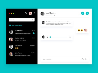 Daily UI challenge #013 - Direct Messaging messaging daily-ui