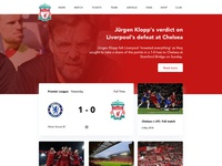 Liverpool FC landing page redesign