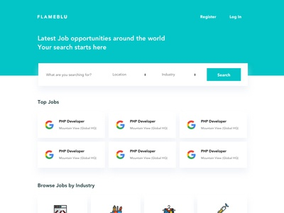 Job Portal UI employer employee jobseeker ux ui job