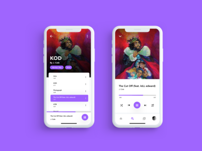 Music Player App app challenge uplabs hiphop music