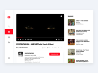 Youtube Redesign clean minimal videoplayer youtube
