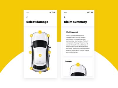Car Insurance App vehicle motor summary report accident app insurance