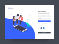 Sign in Page signup sign in undraw illustration jobseeker employer landing page ux ui app