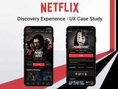 Netflix Discover Experience - UX Case Study illustration branding netflix design uidesign mobile dailyui web ux ui uiux