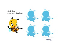 Find the correct shadow. Educational game for children