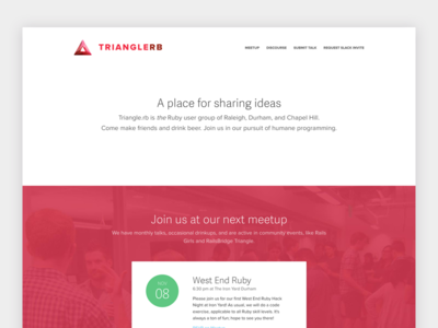 TriangleRb middleman nc raleigh triangle event meetup