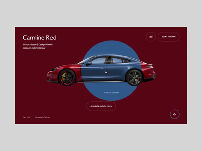 Porsche Taycan Web Experience electric supercar typography website ui ux animation interaction automotive car web taycan porsche