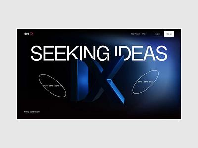 Idea IX 3d illustration work freelance designer job freelance ideas website interaction animation