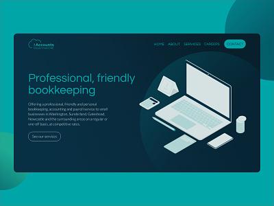 Website design   The Accounts Dept bookkeeping web design ui design branding ui ux web illustration website ux design