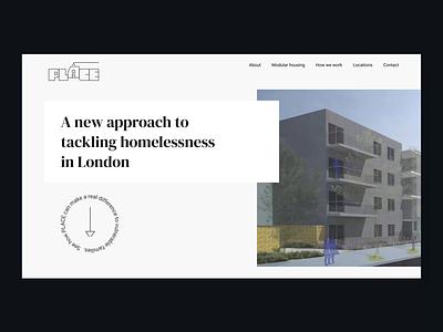 Place London – Web Interface Design xd after effect landing page design website ui design ux design webdesign interfacedesign web uxui ui ux