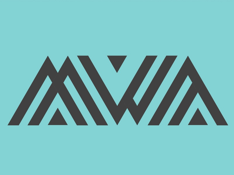 MWA creative design pattern lines shapes vector typography abstract logotype logo