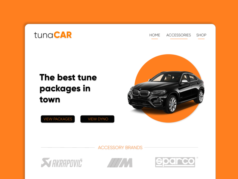 Website Design for a Car Tuning Service
