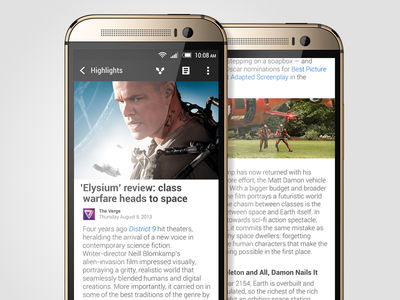 Article View - HTC BlinkFeed for Sense 6 htc blinkfeed htc one m8 sense sense 6 ui ux feed content news