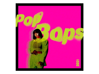 Pop Bops (Playlist) glitch art music texture glitch album cover design album artwork album cover album art album cover design pop music typography graphic design cover playlist