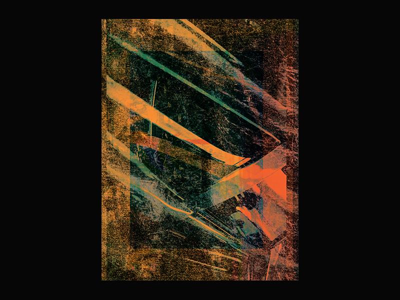 """""""Orange Dream"""" Poster sale store graphic design graphic art design glitch art glitch print prints poster"""