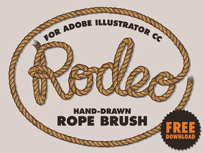 Free Rope Brush for Illustrator free download fribbble freebbble freebie free western nautical illustrator brush rope