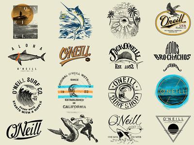 O'Neill T-Shirt Graphics (shot 3 of 5) lettering logo california hawaii surf surfing tee t-shirt oneill