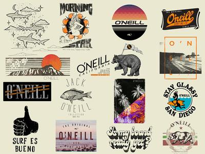 O'Neill T-Shirt Graphics (shot 4 of 5) lettering logo california hawaii surf surfing tee t-shirt oneill