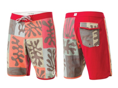 """""""The Hook"""" O'Neill Boardshorts repeat pattern apparel boardshorts surfing print"""