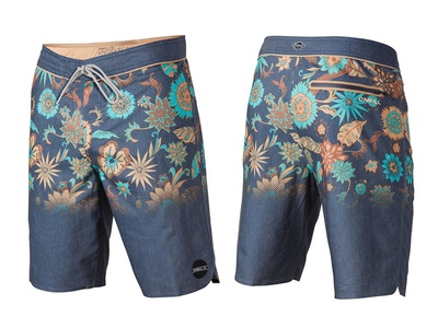 Sprouted print for O'Neill Boarshorts oneill surfing floral pattern print boardshorts