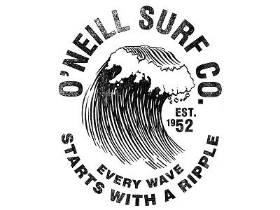 Tee for O'Neill wave surfing surf california t-shirt shirt tee