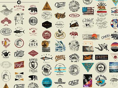 Oneill Surf Logos logo wave surfing surf california t-shirt shirt tee